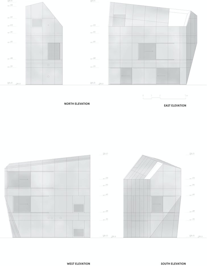 Elevations, courtesy of Wiel Arets Architects (WAA)