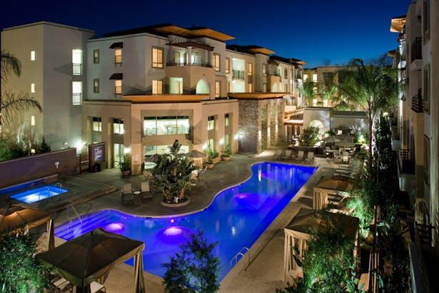 Aerial pool deck.