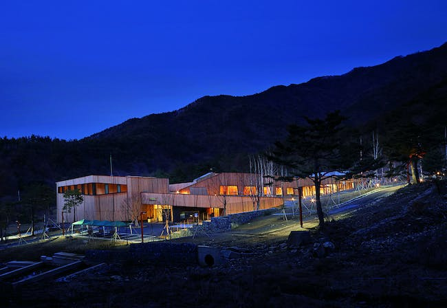 Passive House building in Goesan, South Korea (photo by AN news, Woocheol Jeong)
