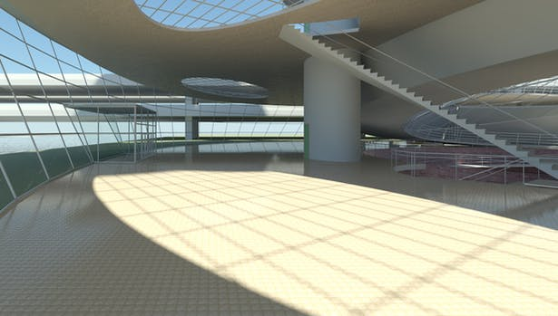 Solar Spiral, exhibition and conference area