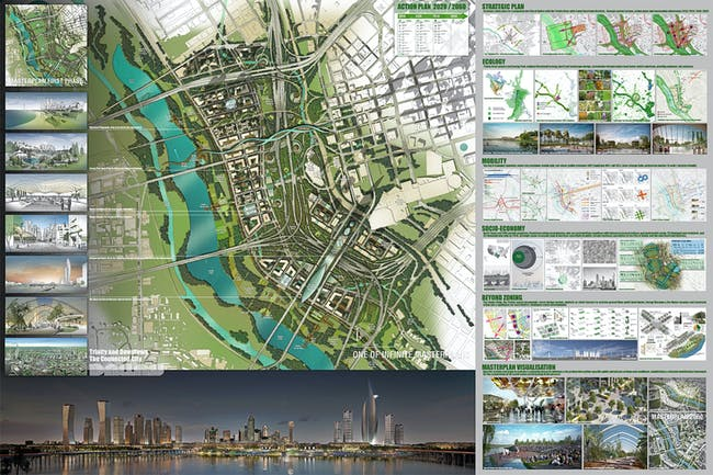 OMA*AMO, New York, NY: '2Rivers/2Datums'. Image via Dallas Connected City Design Challenge.