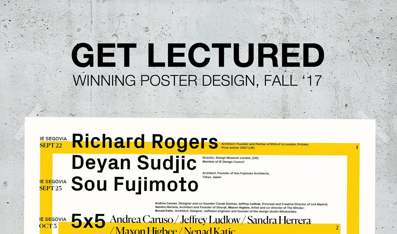the votes are in the top architecture lecture series posters for fall