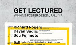 The votes are in — the top architecture lecture series posters for Fall 2017