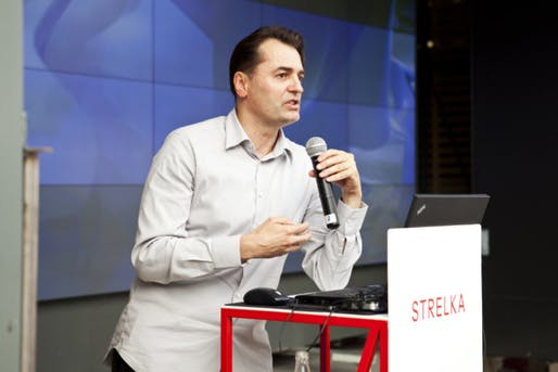 Patrik Schumacher, speechifying in 2012. Image: Olga Eichenbaum via Flickr