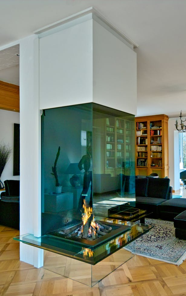 Bloch Design suspended fireplace 1