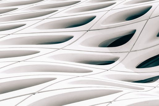 Details of The Broad Museum's facade. Photo: Jon Grado/Flickr.