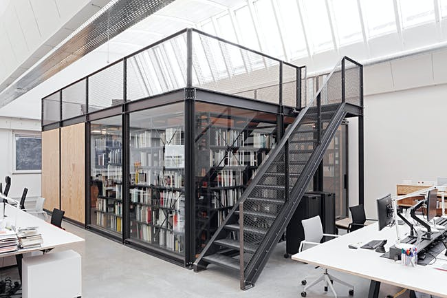 View Vitra Design Museum, library, photo © Vitra Design Museum, Daniele Ansidei