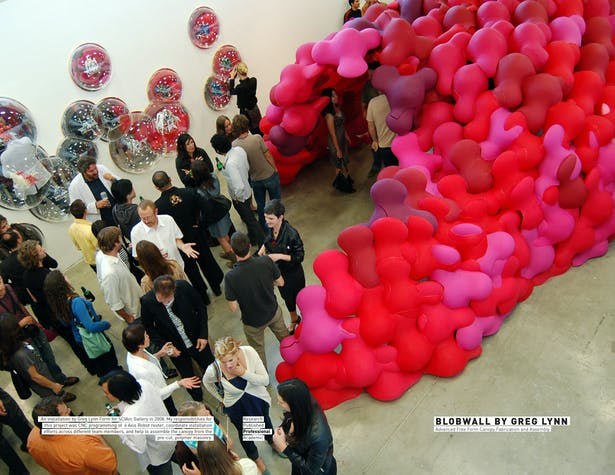 Blobwall by Greg Lynn / Advanced Free Form Canopy Fabrication and Assembly