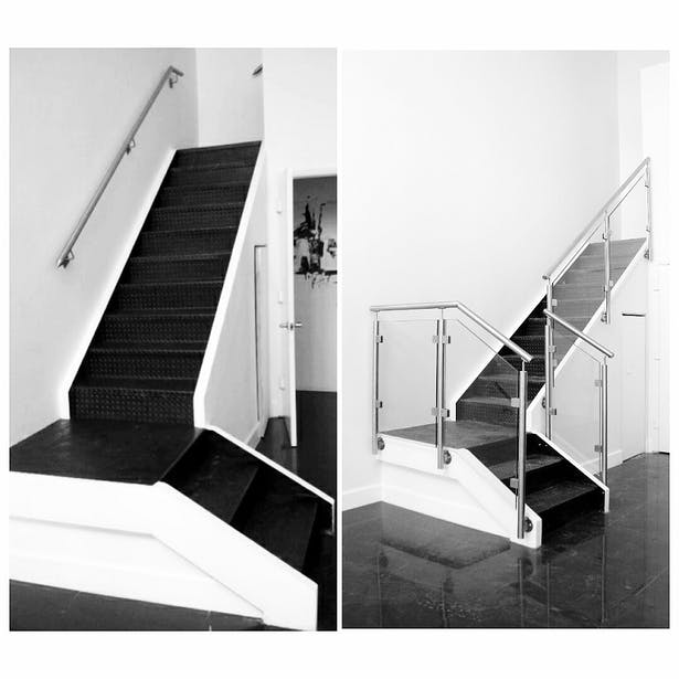 Before and After: Glass Railings + Stainless Steel Elements