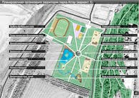 The project is the concept of a modern Park