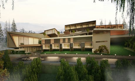 World-class architectural design for an up-coming resort at Sangrun,Pune.,India