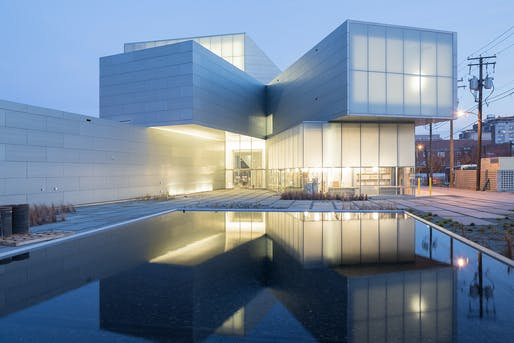 View of the Institute for Contemporary Art at VCU Garden at dusk. Image: Iwan Baan.