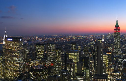 Manhattan skyline at night. Credit: WikiCommons