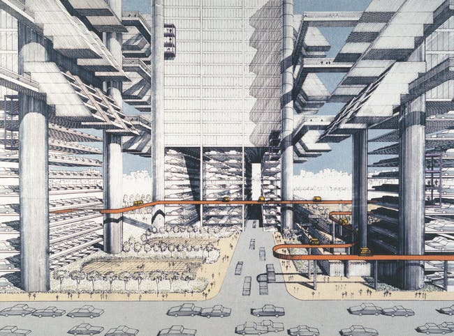 Paul Rudolph Lower Manhattan Expressway. Courtesy of Distributed Art Publishers, Inc.